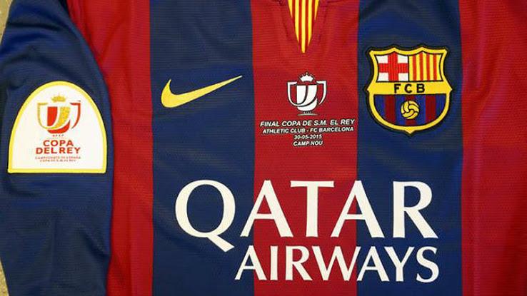 Le maillot du FC Barcelone pour la Fianle de la Coupe du Roi 2015