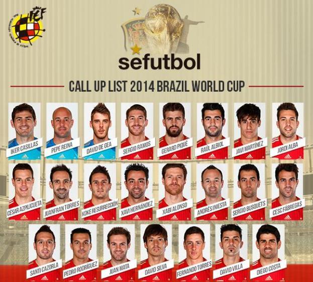Equipe Espagne 2014