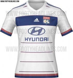maillot lyon 2015-2016