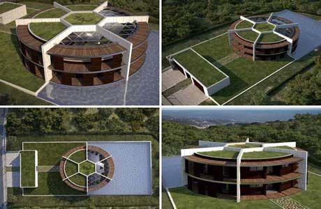 Lincroyable future maison en forme de ballon de lionel messi