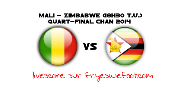 Mali-Zimbabwe en direct (18:30 gmt): live score – quart de final CHAN 2014