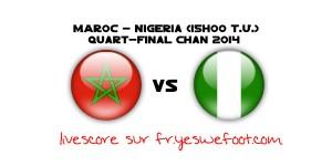 Maroc Nigeria en direct