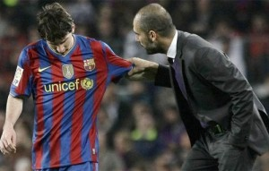Messi et Pep Guardiola