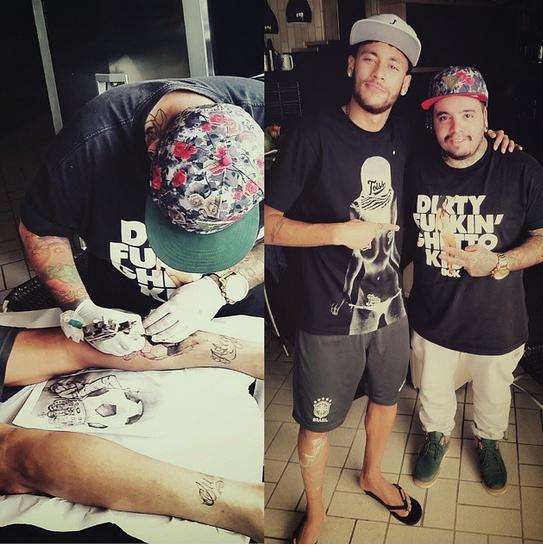 naymar et son tatoueur