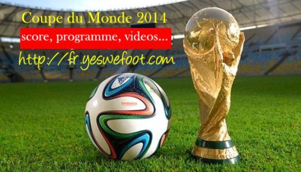 programme matchs coupe du monde 2014