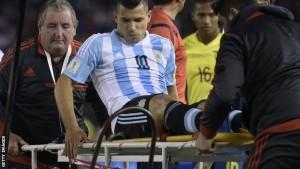 sergio aguero blesse argentina