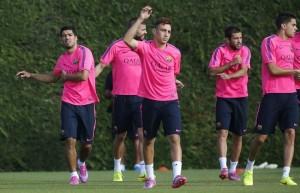 Suarez entraînement FC Barcelone