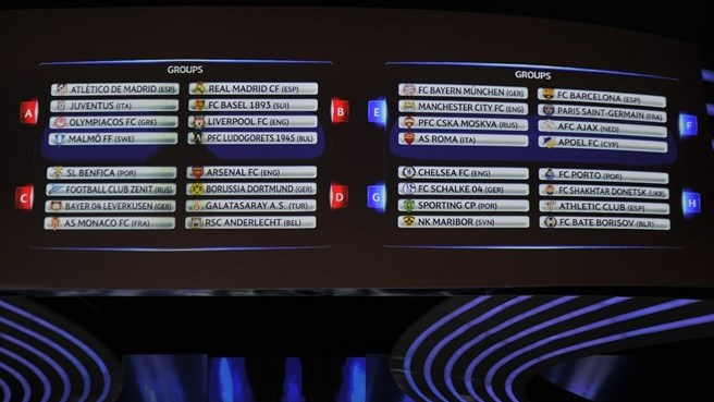 Uefa ligue des champions 2014 2015 les r sultats du - Tirage au sort coupe de la ligue 2015 ...