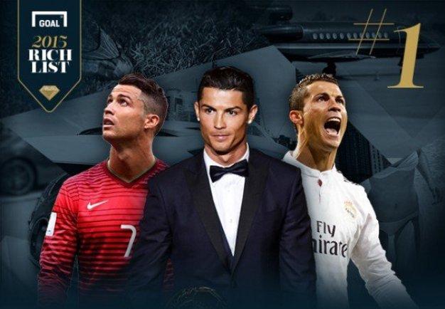 les footballeurs les plus riches 2015